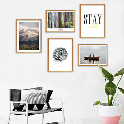 Forest Mountain Landscape Poster Nordic Decoration Wall Art Canvas Print Picture