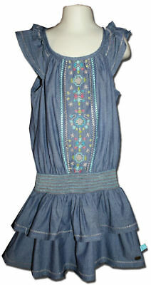 Pretty PIPING HOT Target Size 5 Embroidered CHAMBRAY Dress