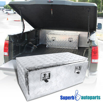 "36""x18""x16"" Truck Under Bed Tool Box Underbody Storage Trailer Pickup w/Lock"