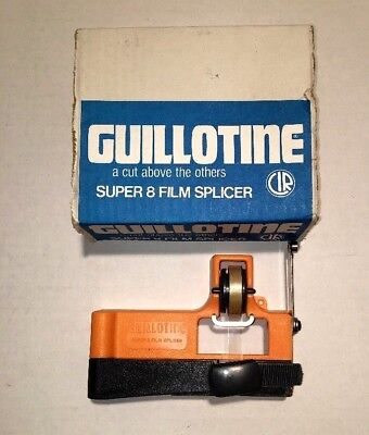 Guillotine Super 8 Film Splicer - Made In Italy-With Box And Manual