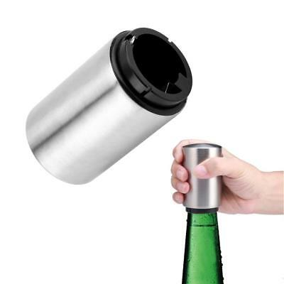 Stainless Steel Automatic Bar Bottle Opener Beer Soda Cap Wine Instrument