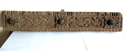 Wall panel Door Wooden Panel Floral Hand Carved Beam Antique Estate Home Decor