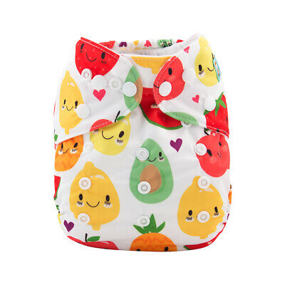 ALVA Baby Cloth Diaper Reusable Onesize Washable Nappy Pocket +1Insert