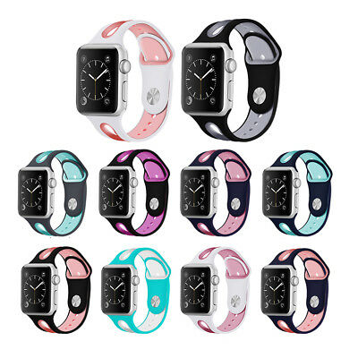 Breathable Soft Silicone Replace Sport Strap Band for Apple Watch Series 1 2 3
