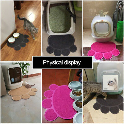Dog Cat Bowl Mat Pad Bone Food Container Water Bottle Pet Feeding Placemat NY