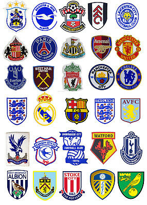 Football Soccer Sports teams Official Crest Logo Embroidery Iron Sew on Patch UK