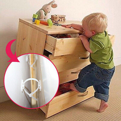 Set Home Child Proof TV or Furniture Anti-Tip Straps Kids Baby Safty White Hot