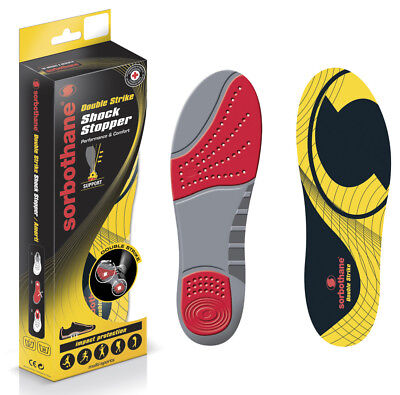 Sorbothane Foot Orthotic Pad Multi Sports Double Strike Footwear Insoles