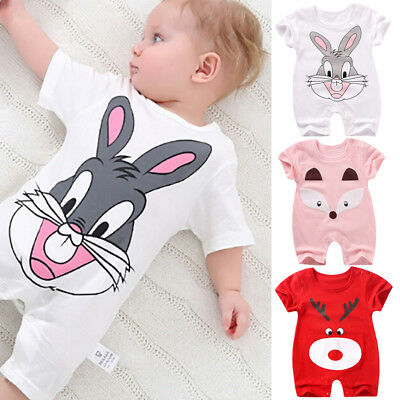 Newborn baby cotton bodysuits romper clothes cartoon jumpsuit outfits M&C