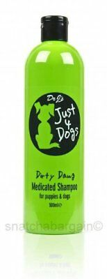 Dr J's JUST 4 DIRTY DAWG MEDICATED SHAMPOO 500ml