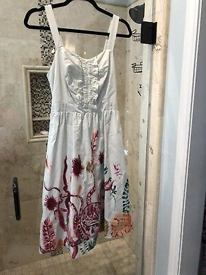 30537137a6277 NEW ANTHROPOLOGIE BUTTERFLY Net Dress NATHALIE LETE Blue sz 10 Large ...