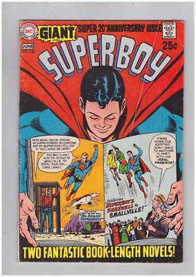 Superboy # 156  80 page Giant Anniversary issue grade 4.5 scarce book !!