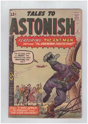 Tales to Astonish # 37 Trapped by the Protector ! grade 4.5 scarce book !!