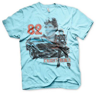 Knight Rider K.I.T.T. 1982 David Hasselhoff Car Auto Retro TV Männer Men T-Shirt