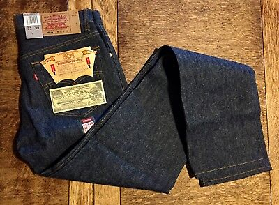 VINTAGE 1993 TALL 32 X 38 LEVI 501 JEAN Button-Fly Shrink-to-Fit Rare Deadstock