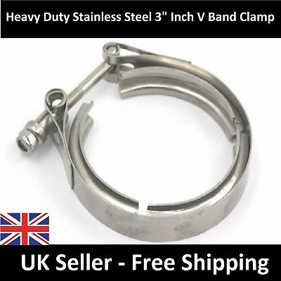 "DELUXE Vauxhall Astra Upgraded 3"" Exhaust V-Band Clamp - Stainless Steel"