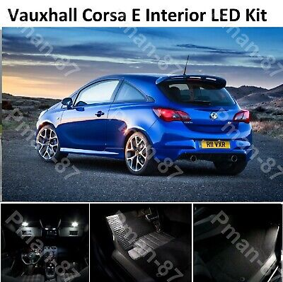 For Vauxhall Corsa D Xenon White Interior LED Welcome/&Reading Lights Upgrade Kit