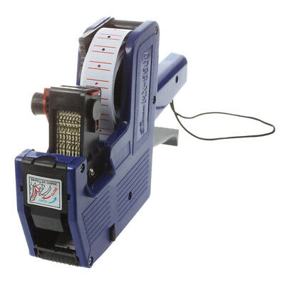 Blue 8 Digits Hand Price Labeller Tag Gun Plastic D8O9