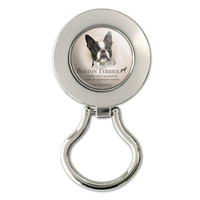 Boston Terrier Dog Breed Magnetic Metal Eyeglass ID Badge Holder