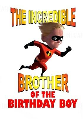The Incredibles Brother Of Birthday Boyfabric T