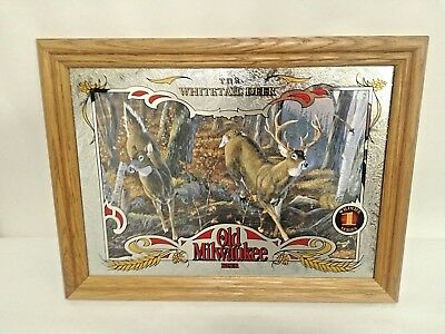 "Old Milwaukee Beer Mirror, ""WILDLIFE SERIES""  Set of 8 (1-8) Great Condition"