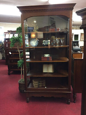 Antique Victorian Showcase - Original Glass!  Delivery Available