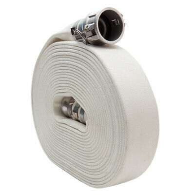 "White 1 1/2"" x 50' Camlock Double Jacket Mill Hose"