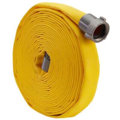 "Yellow 1"" x 100' Forestry Hose (Alum NPSH Couplings)"