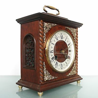HERMLE CLOCK Mantel TOP 3 BAR CHIME BRONZE FEATURES Mid Century Vintage Germany