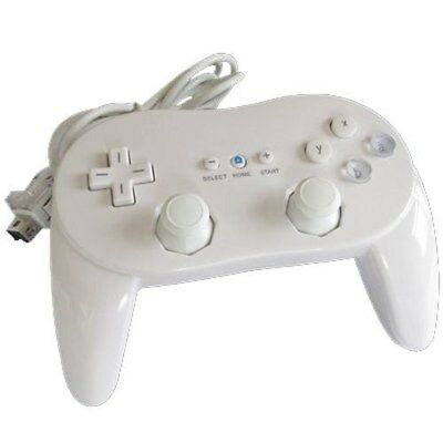 Classic Pro Controller For Nintendo Wii or Wii U White Brand New