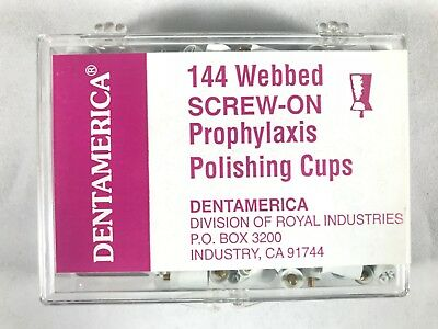 Dentamerica Dental Prophy Prophylaxis Polishing Cups Webbed Pcs