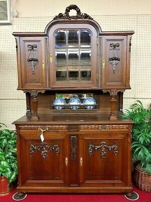 Antique French Hutch - Solid Walnut/Oak - Delivery Available!