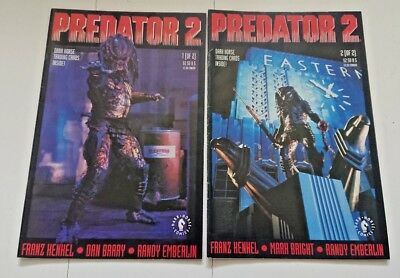 PREDATOR 2 : complete 2 issue 1991 DH series by Henkel & Barry. MOVIE ADAPTATION