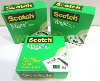 Scotch Brand Magic Tape, Standard Width, 3/4 x 100in, Boxed, 3 Rolls (810-3PK)