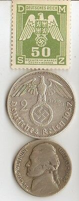 -* WWII - *US  and  *german  coins  and   stamp +..