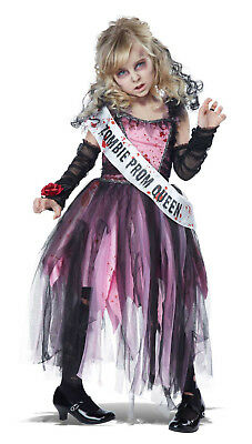 Halloween Zombie Costumes For Girls.Prom Queen Girls Child Zombie Halloween Costume