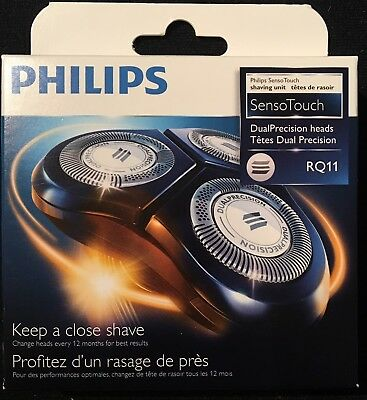New Philips RQ11/53 Replacement Shaving Heads Senso Touch 2D **FACTORY SEALED**