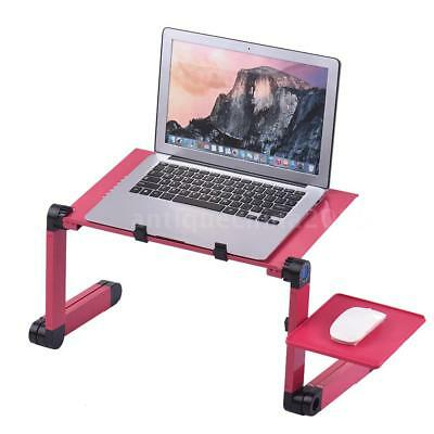 Aluminum 360°Adjustable Folding Laptop Notebook Desk Table Stand Bed Tray B5Y3