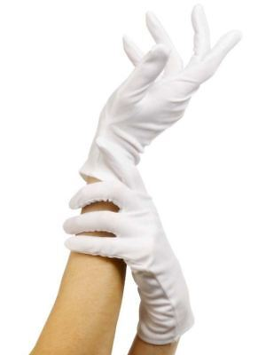 Adult White Gloves Short Magician Clown Halloween Santa Fancy Dress Costume