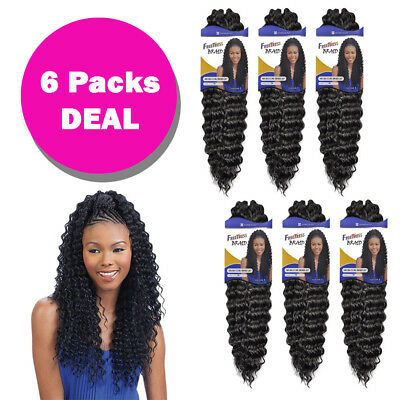 "*Multi Pack* Aruba Curl Braid 20"" - Freetress Synthetic Crochet Hair Extension"