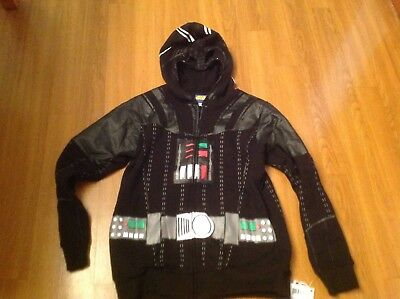 Nwt Star Wars Darth Vader Full-Zip Hoodie/sweatshirt Youth/boys Xlarge  14-16