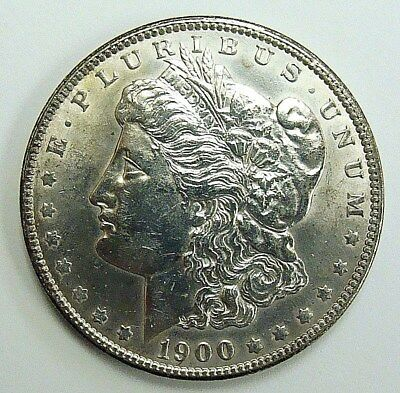 1900 Double Reverse Vam 11, Au/bu Details Morgan Dollar, Free Shipping In Usa