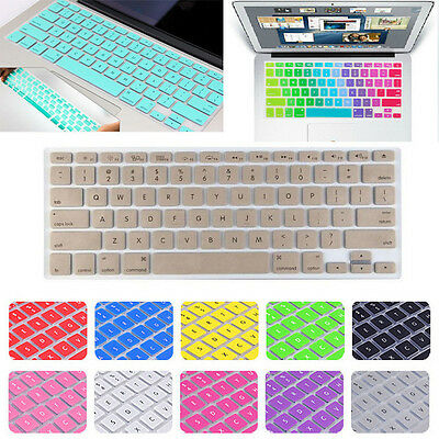 "Pattern Design Keyboard Cover Keypad Skin For MacBook Air Pro 13 15 17"" Lwx"
