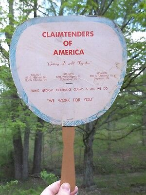 Vintage Claimtenders of America Hand Fan Indiana north vernon columbus seymour