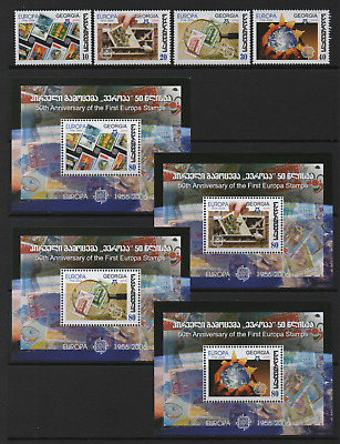 GEORGIA 2006 50th ANNIV OF EUROPA STAMPS *FULL SET & MINIATURE SHEETS x 4*