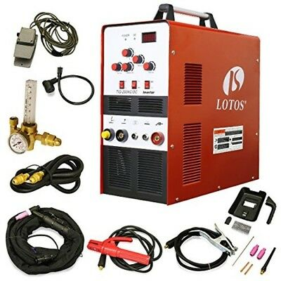 LOTOS Aluminum Tig/Stick Welder Square Wave Inverter with Pedal and Mask