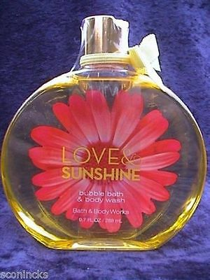 Bath & Body Works Douchegel Love and Sunshine Shower Gel Bubble Bath 288 ml