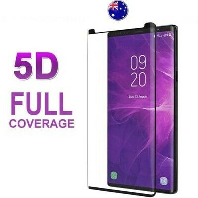5D Samsung Galaxy Note 9/8 S9 S8 Plus Tempered Glass Full Cover Screen Protector