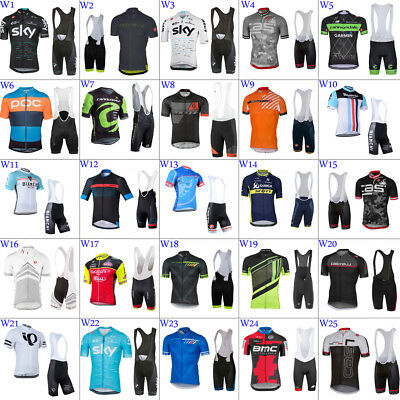 New Mens team cycling jerseys and bib shorts cycling bib shorts cycling shorts