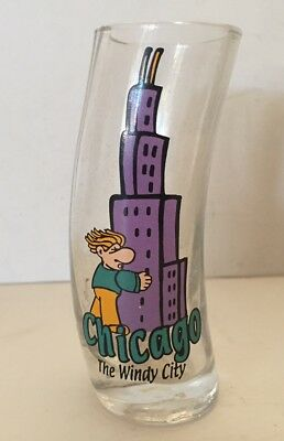 Chicago The Windy City Tall Shot Glass